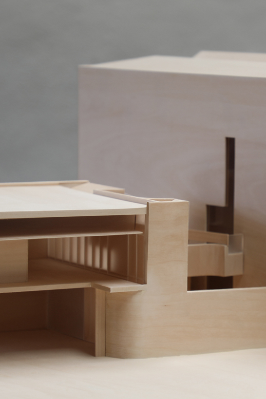 Exhibition Model of Indigo slam for SMART design studio from Timber