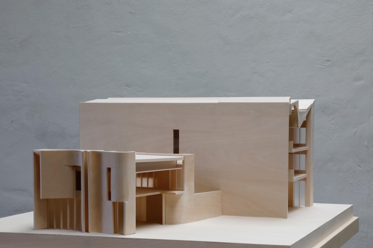 Exhibition Model of Indigo slam for SMART design studio from Timber