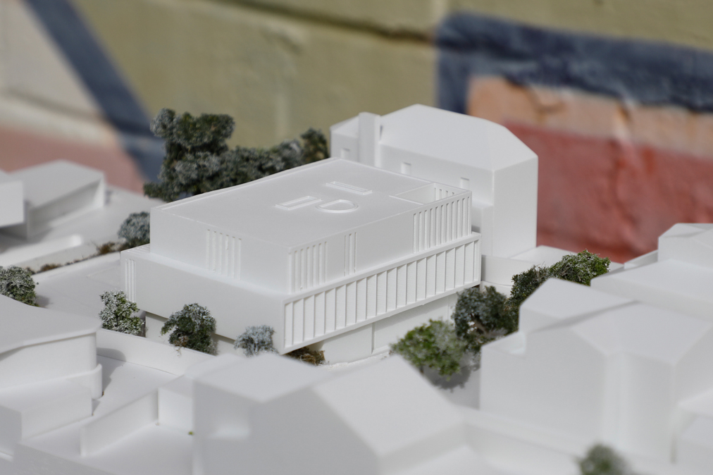 White 3d Printed DA Model for Woollahra Council at 1:200 for Stafford