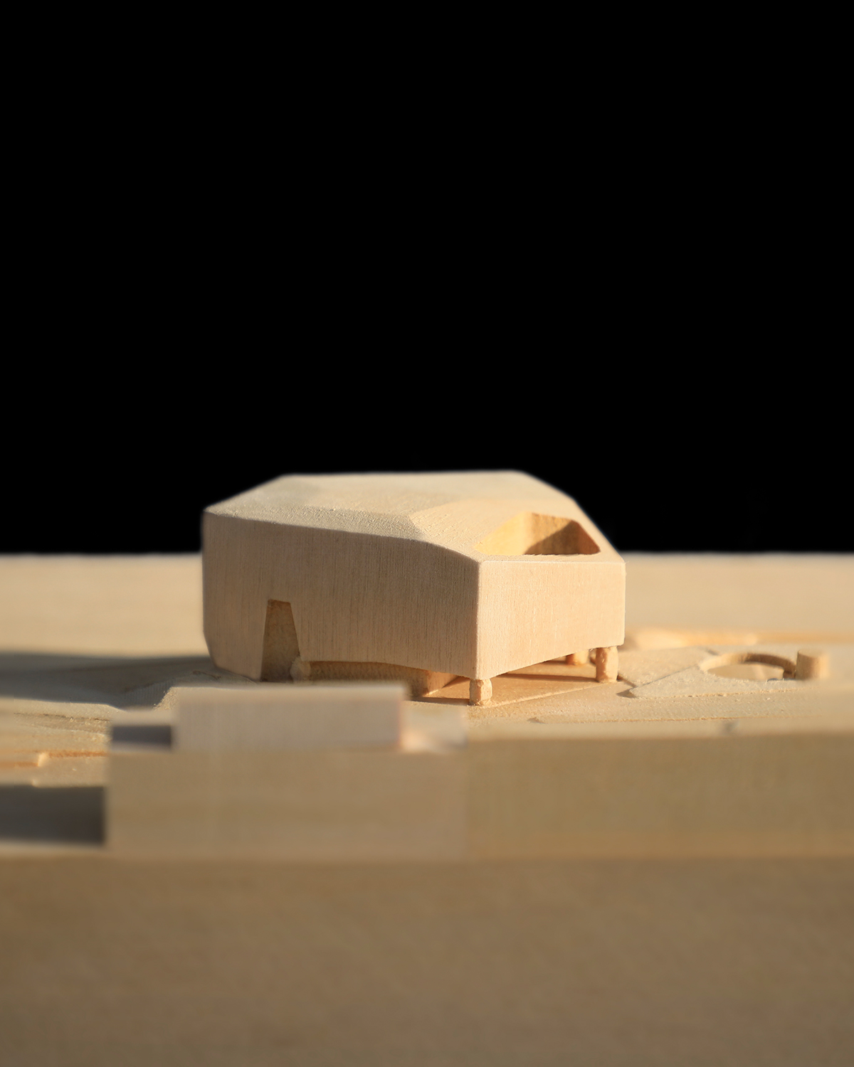 Competition Model for Neeson Murcutt at 1-500 showing Cotteslow Beach Pavilion