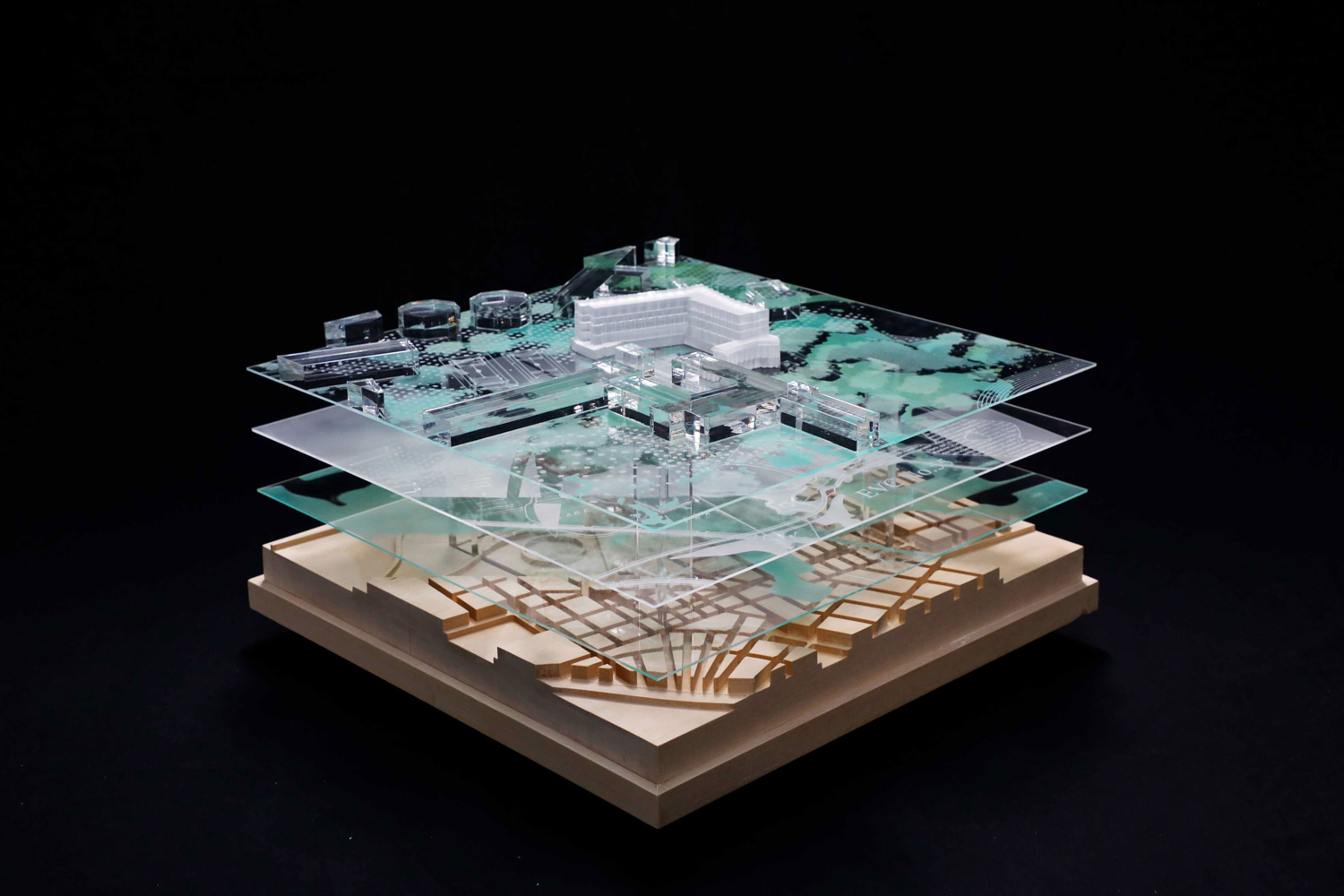 A Series of Presentation Model for the Venice Bienalle by Hayball at various scales