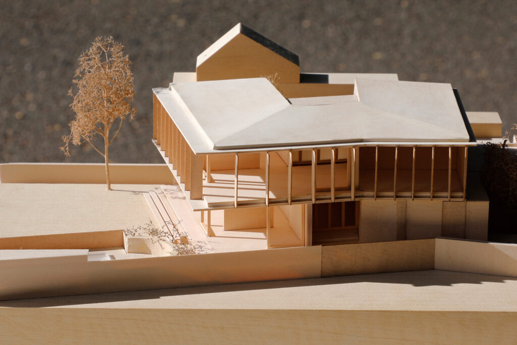 Timber presentation model for Polly Harbison at 1:200