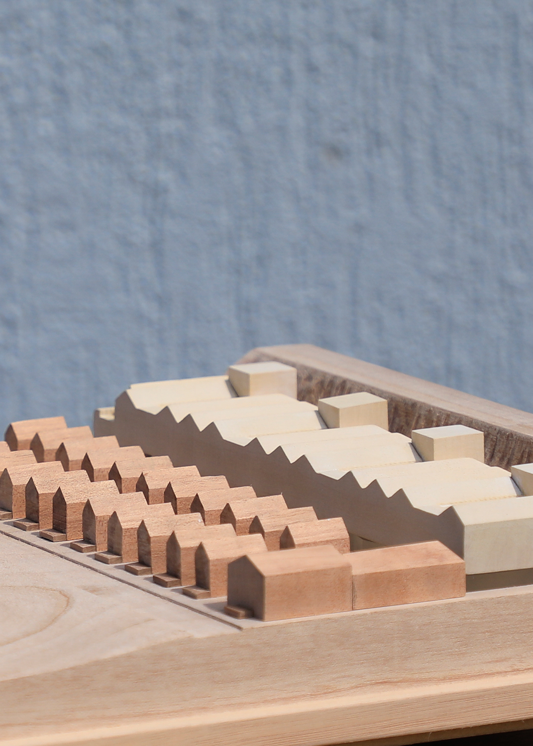 Timber Presentation Model for Eoahghan Lewis Architects at 1:500