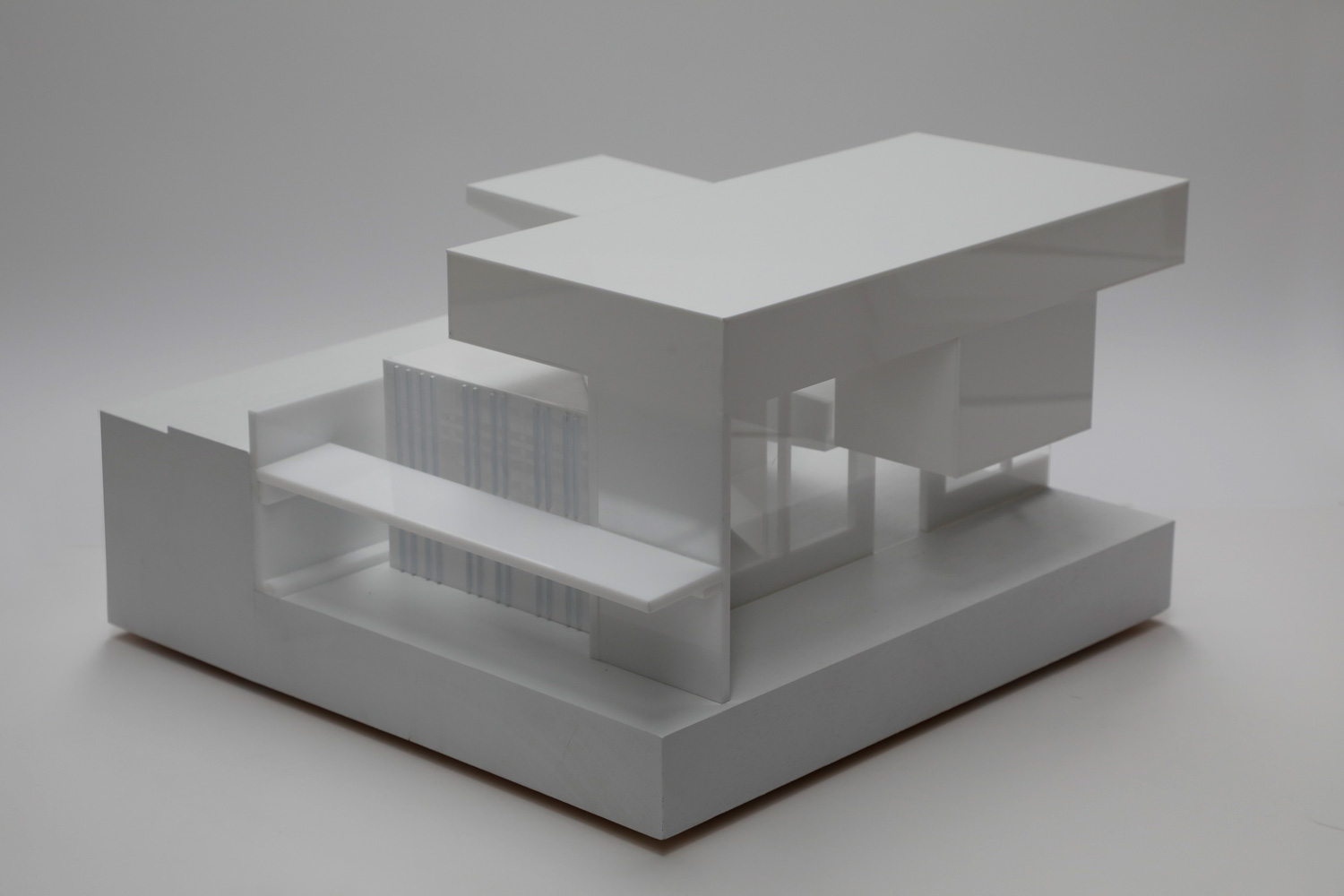 White architectural model exhibition