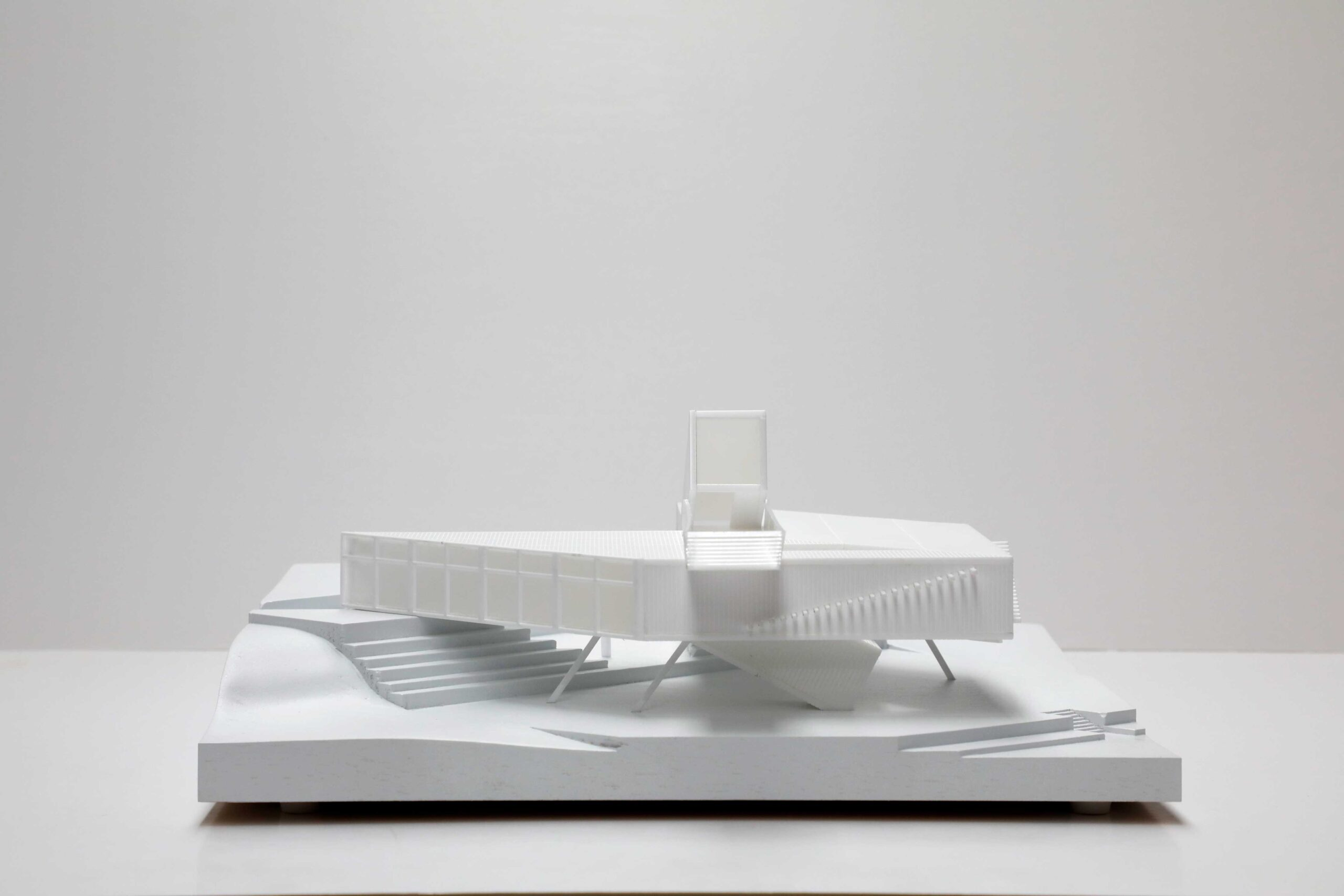 White architectural model exhibition for the National Maritime Mueseum